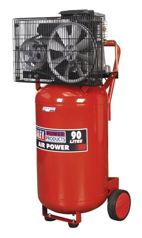 sealey air compressor 90ltr vertical 3hp sac1903b ebay
