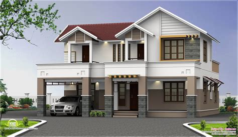 2500 Sq Feet Two Storey House Elevation Kerala Home Design And Floor Plans