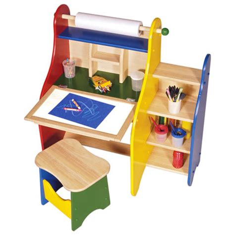 childrens art desk art activity desk provides a great place of painting and