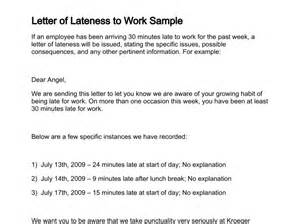 Explanation Letter Of Tardiness Letter Of Lateness