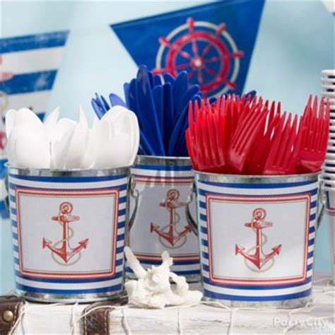 Party City Nautical Theme - nautical drink station idea party city