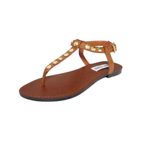 Lr 04 Sandal Flat lyst steve madden virrtue flat sandals in brown