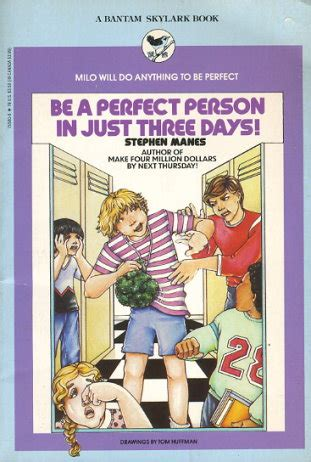 be a person in just three days books be a person in just three days by stephen manes