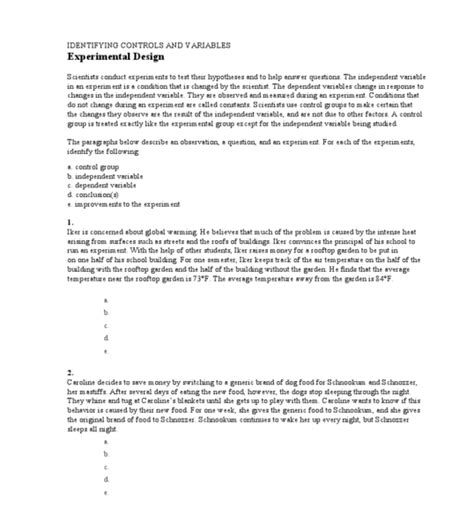 independent variable worksheet independent and dependent variables math worksheet 6th