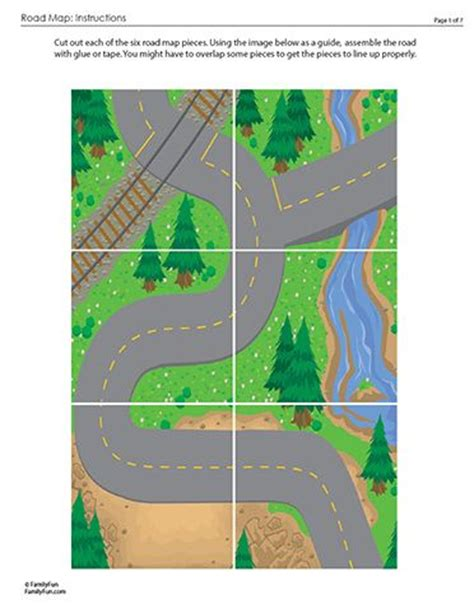 printable road play mat street scene mat for 3d cars printable 3d paper