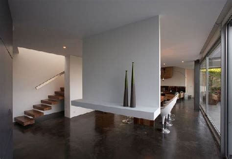 modern style homes interior house by a cero modern style concrete house design 2011