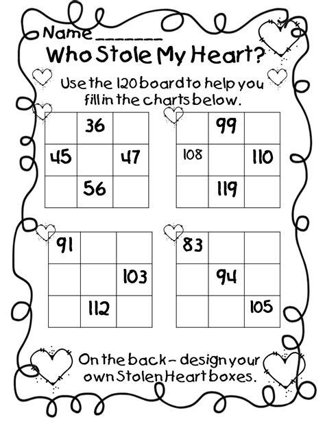 free printable math valentine worksheets free printable valentine math worksheets for kindergarten