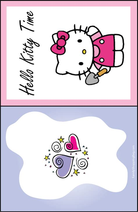 hello kitty printable greeting cards hello kitty invitations templates