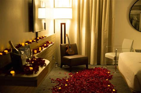 decoration room room decoration with flowers and candles romantic night