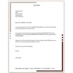 Business Letter Template Microsoft Word by Free Microsoft Word Cover Letter Templates Letterhead And