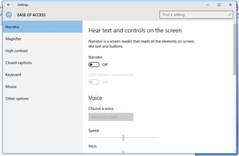 windows 10 narrator tutorial narrator option in windows 10
