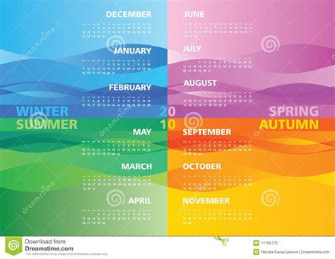 Sell Calendar Photos Season Calendar 2010 Stock Vector Image Of November