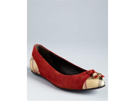 burberry flat shoes burberry ballerina flats haymarket yates in chocolate