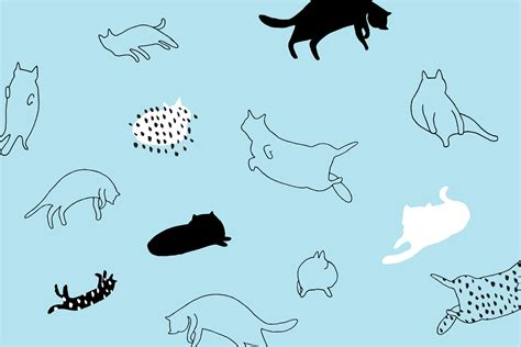 wallpaper cat illustration these cat and corgi desktop and smartphone wallpapers will