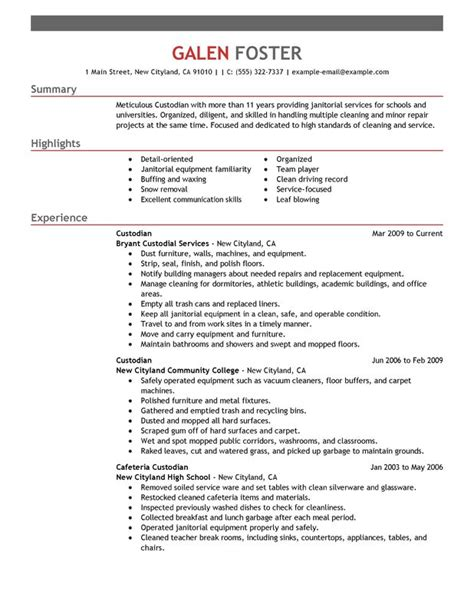 House Cleaninc Resume Builder House Cleaning Resume Sle Sle Resumes