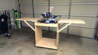 white miter saw cart diy projects