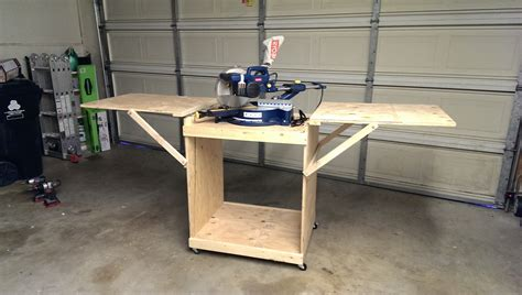 build miter saw bench ana white miter saw cart diy projects