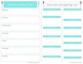 menu plan template 30 minute challenge weekly meal planning 24 7