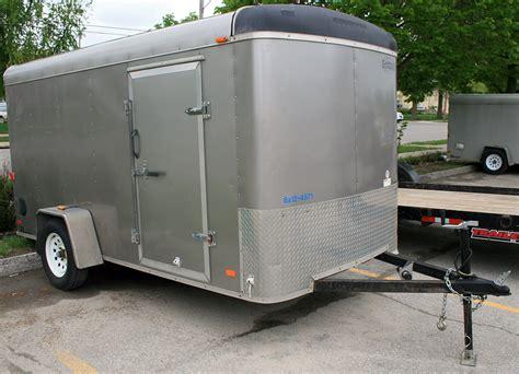 cargo box trailer grey 6 x 12 enclosed cargo utility box trailer rental