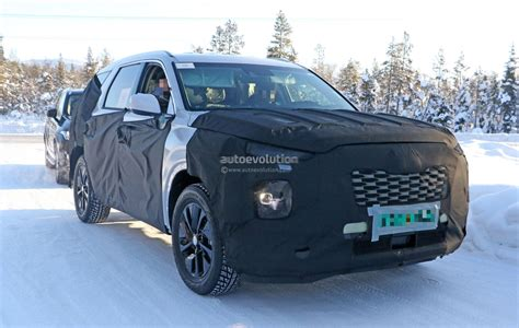 2020 Volvo Suv by 2020 Hyundai Eight Seat Large Suv Spied Benchmarking