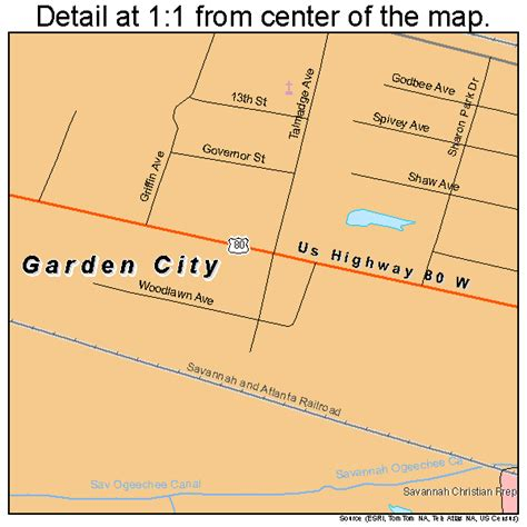 Garden City by Garden City Map 1332048