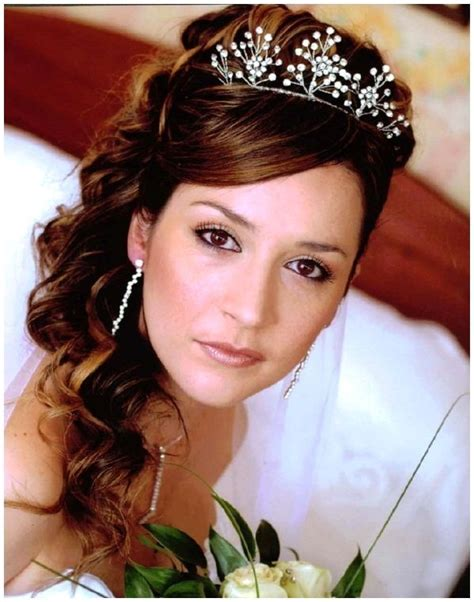 wedding hair half up half with tiara wedding hairstyles half up with tiara wedding magazine