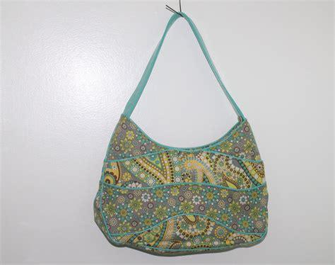 yellow pattern purse vera bradley lemon parfait pattern teal yellow flower