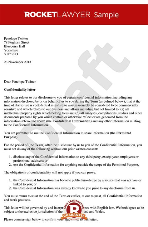 business letter format confidential sle business letter