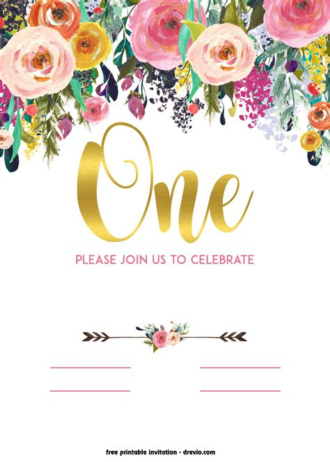 invitation template free free printable 1st birthday invitation vintage style