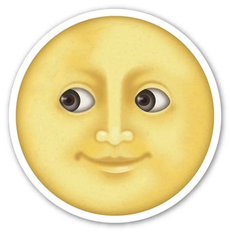 iphone emoji moon faces full moon with face moon emojis and emoji stickers