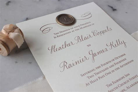 Alabama Wedding Invitations Printed by Rainier Custom Calligraphy Invitations