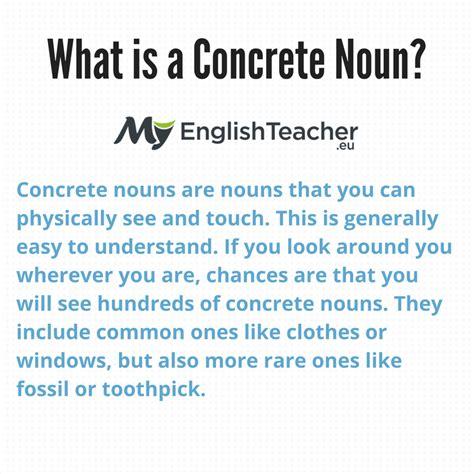is room a concrete noun what is a concrete noun exles concrete nouns list