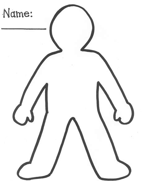 template of person blank person template clipart best