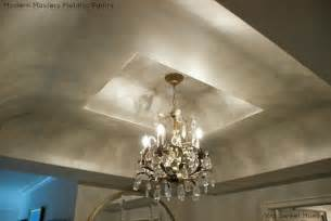 Faux Finishes For Kitchen Cabinets metallic paint on ceilings modern masters cafe blog