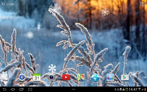 frozen live wallpaper hd winter flowers live wallpaper android apps on google play