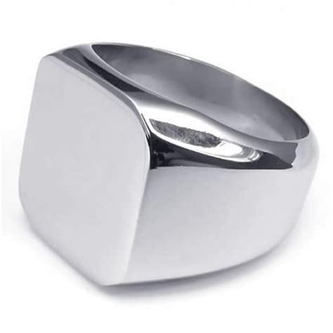 ring herren herren ring edelstahl siegelring silber de ebay