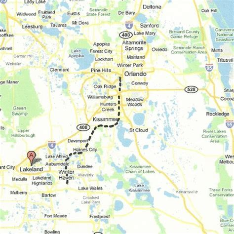 map of central florida cities central florida map
