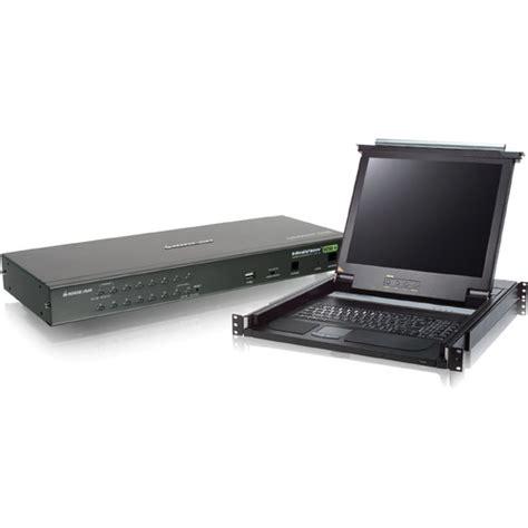 Desktop Ny Lcd Jepit Usb Port iogear 16 port ps 2 usb combo kvm and 17 quot rack gcl1716 b h