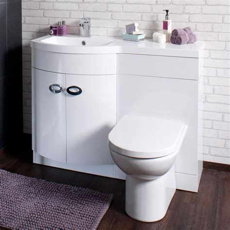 bathroom cabinet back to wall toilet basin sink suite