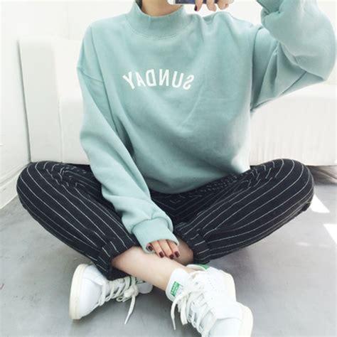 Topi Fashion Kpop Letter Simple 79 korean korean style t shirt