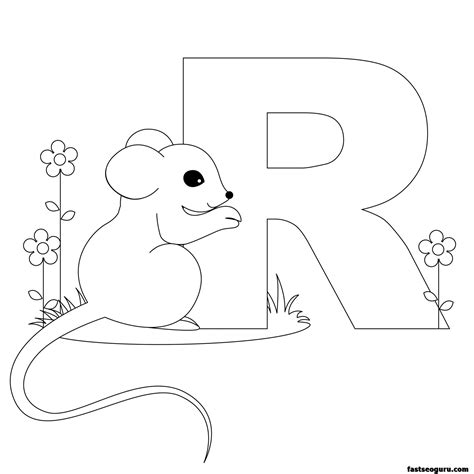 printable alphabet animals letters free alphabet r coloring pages