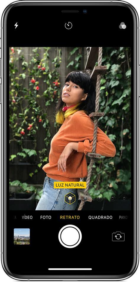 usar  modo retrato  iphone suporte da apple