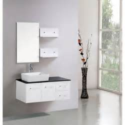 Bathroom Vanity Shelves Kokols Floating 36 Inch White Cabinet Wall Mount Bathroom Vanity With Mirror And Shelves Free