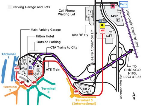 parking map o hare parking map chicago o hare parking map united