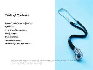 Nursing Professional Portfolio Template by Health Occupational Professional Portfolio