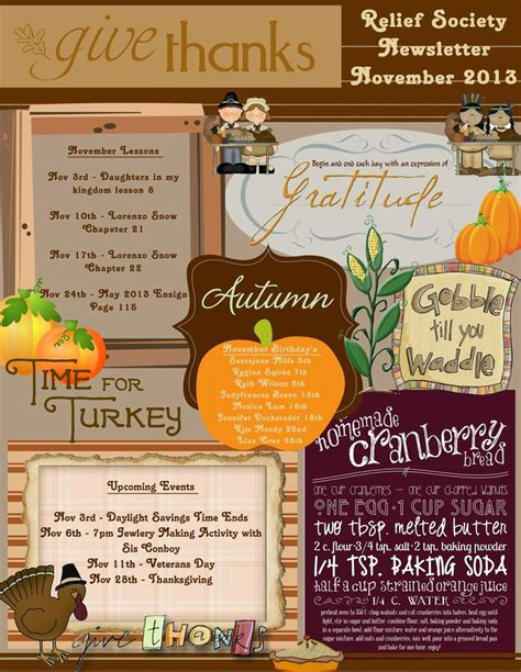 november newsletter template relief society a collection of ideas to try about diy and
