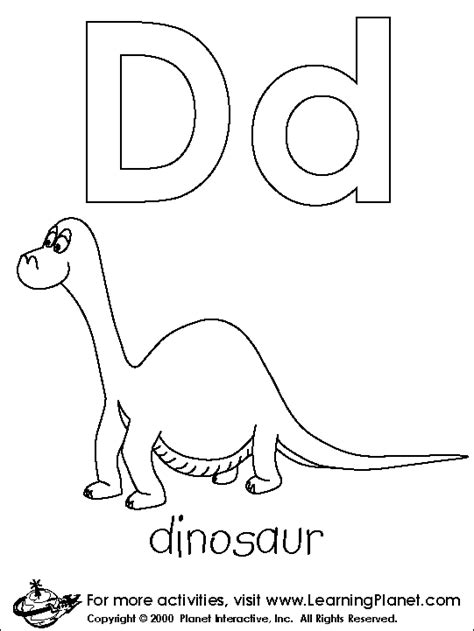 d coloring pages for kindergarten d is for dinosaur coloring page preschool letter d