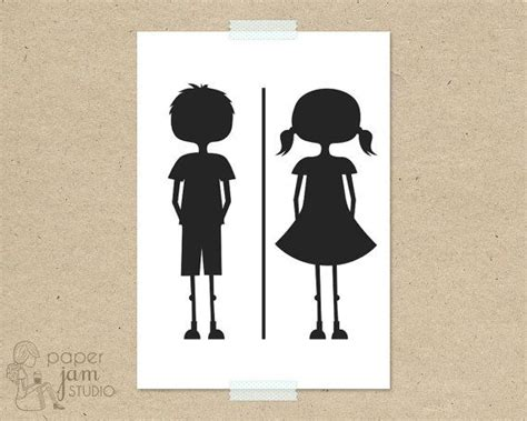 boy girl bathroom sign little girl boy bathroom sign wc fun toilet symbol amenities on etsy 8 16