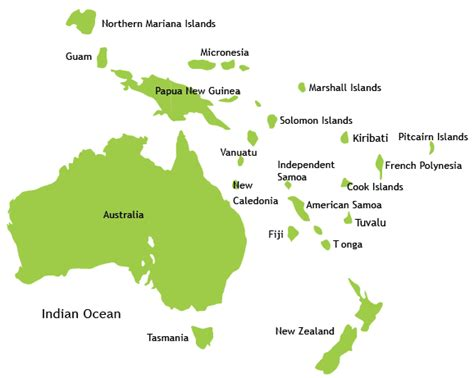 map of australasia places to travel in australasia oceania best places to