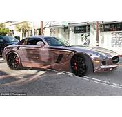 Tyga Shows Off Rose Gold Mercedes Benz Amid Claims He Owes